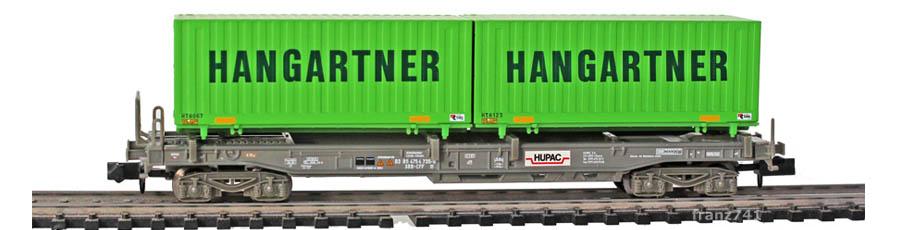 Minitrix-15276-1-Sdgmss-HUPAC-Taschenwagen-Set-SBB-HANGARTNER-Container