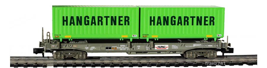 Minitrix-15276-3-Sdgmss-HUPAC-Taschenwagen-Set-SBB-HANGARTNER-Container
