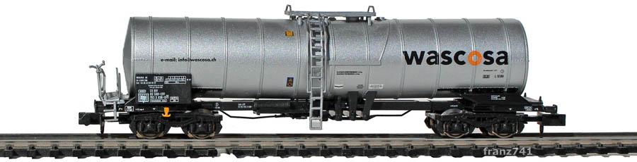 Minitrix-15645-15-Zacens-Knickkesselwagen-SBB-Wascosa