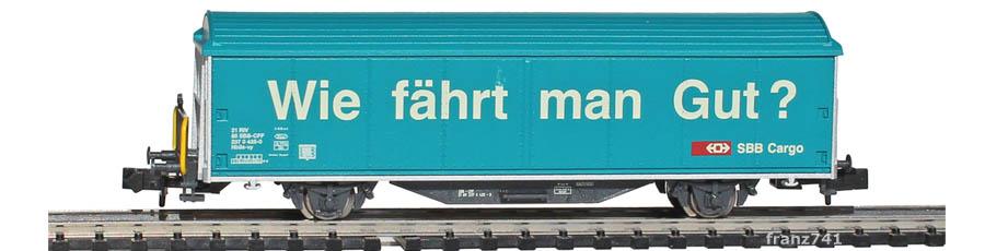 Minitrix-Set-11131-3-Hbbillns-Schiebewandwagen-SBB-Wie-faehrt-man-Gut