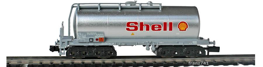 Minitrix-Set-11418-4-Kesselwagen-Shell