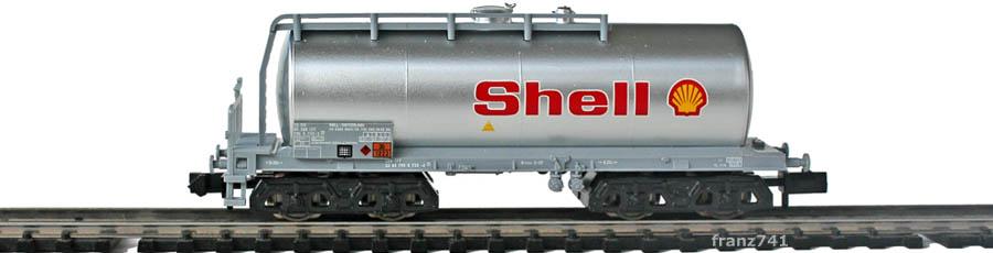 Minitrix-Set-11418-5-Kesselwagen-Shell