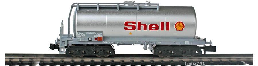Minitrix-Set-11418-6-Kesselwagen-Shell