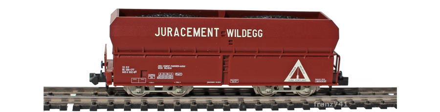 Minitrix-Set-11471-Fals-Selbstentladewagen-SBB-JURACEMENT-WILDEGG