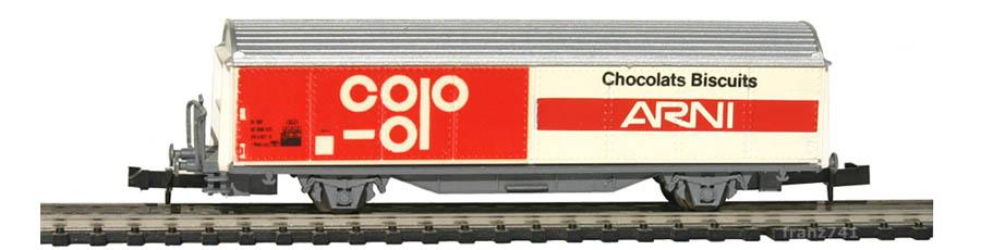 PA-Modell-14-Schiebewandwagen-SBB-Chocolats-Biscuits-ARNI-Basis-Roco