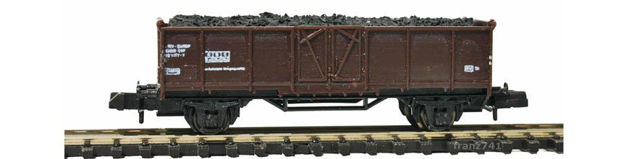 Piko-xxxx-L7-Hochbordwagen-dunkelbraun-SBB-mit-Ladung