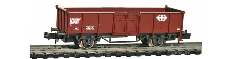 Rivarossi-9323-Hochbordwagen-braun-SBB