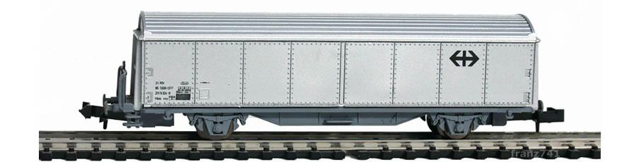 Roco-25064-Hbis-Schiebewandwagen-grau-SBB