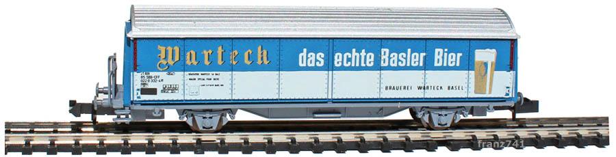 Roco-25065-P-Schiebewandwagen-WARTECK-Bier