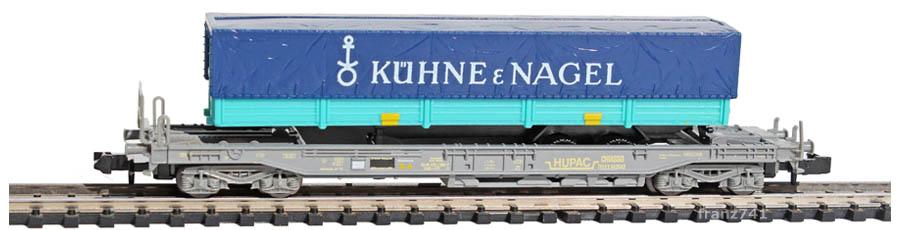 Roco-25150-52-Sdkmms-HUPAC-Taschenwagen-Kuehne-und-Nagel-SBB