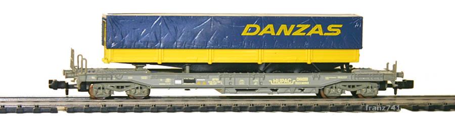 Roco-25152-V2-Sdkmms-HUPAC-Taschenwagen-DANZAS-SBB
