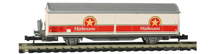 Roco-25174-Hbis-Schiebewandwagen-HUERLIMANN-SBB