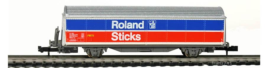 Roco-25224-Hbils-Schiebewandwagen-ROLAND-STICKS-SBB