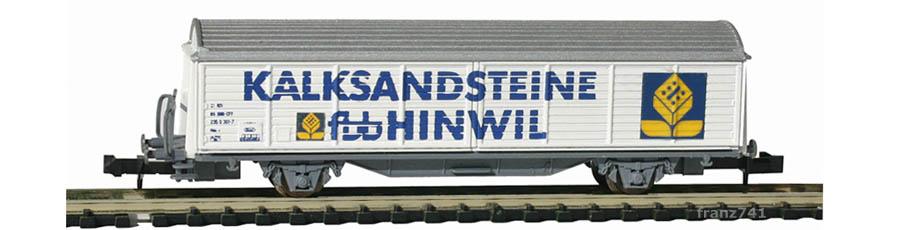 Roco-25230-Hbils-Schiebewandwagen-KALKSANDSTEINE-HINWIL-SBB