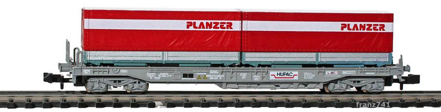 Roco-25288-Sdkmms-HUPAC-Taschenwagen-Wechselpritschen-PLANZER-SBB