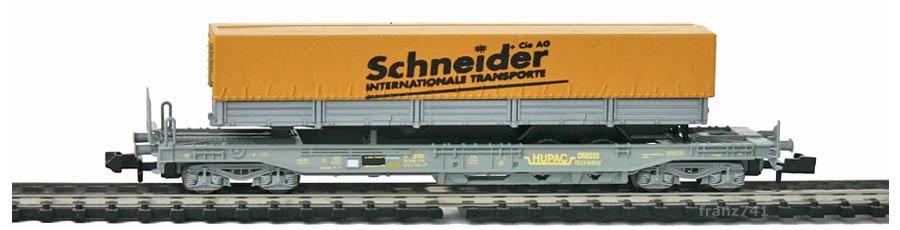 Staiber-25148-4-Sdkmms-HUPAC-Taschenwagen-SCHNEIDER-SBB-Basis-Roco
