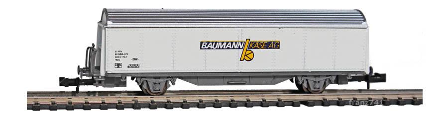 Staiber-5019-Hbis-Schiebewandwagen-BAUMANN-KAESE-AG-SBB-Basis-Roco
