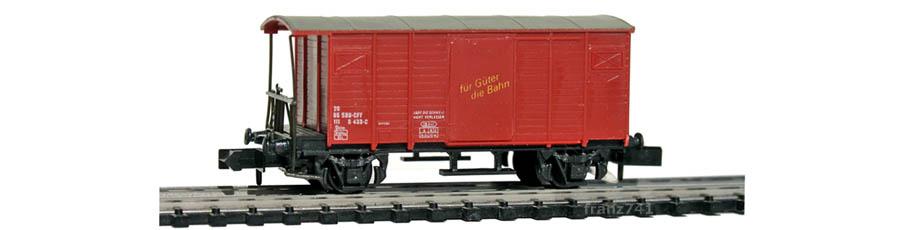 Swisstoys-01-Gklm-Gedeckter-Gueterwagen-braun-SBB
