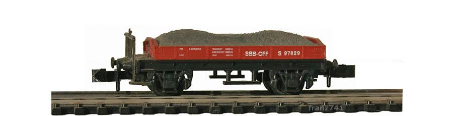 Swisstoys-04-S-Niederbordwagen-braun-SBB-Kiesladung
