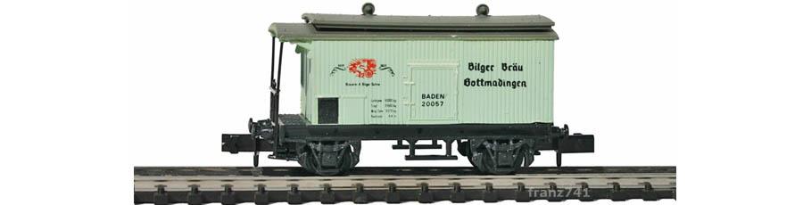 Swisstoys-22-Kuehlwagen-hellgruen-BILGER-BRAEU-SBB-Sonnendach