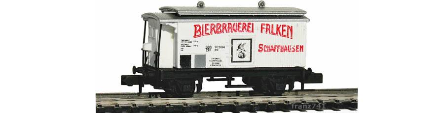 Swisstoys-73-Kuehlwagen-weiss-BIERBRAUEREI-FALKEN-SBB-Sonnendach