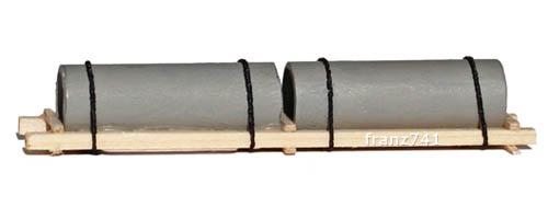 Ladegueter-Ness-Betonroehren-auf-Holzgestell-67-mm