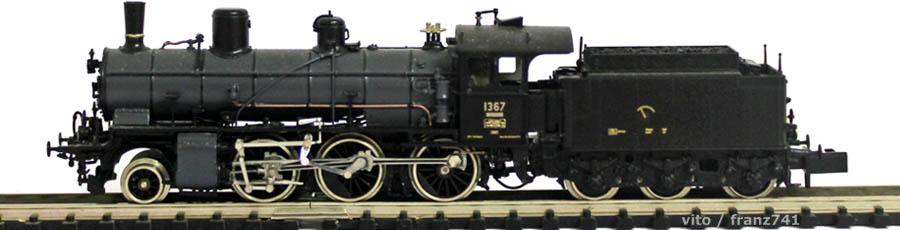 V_Lemaco-N-027_B-3-4-Dampflok-SBB-1367-grau-schwarz-hist-Lok