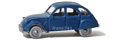 PKWs-Fleischmann-9816-Citroen-2CV-6-Club-blau