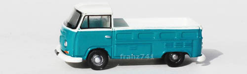 PKWs-Oxford-Diecast-NVW006-VW-T2-Pick-Up-tuerkis-weiss