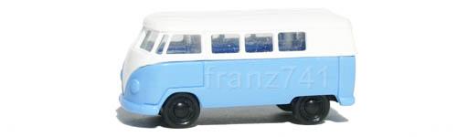 PKWs-Rietze-15601-VW-Bully-Bus-T1-blau-weiss