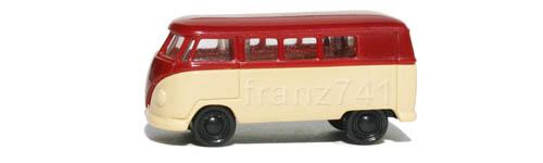 PKWs-Rietze-15601-VW-Bully-Bus-T1-bordeaux-creme