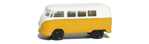 PKWs-Rietze-15601-VW-Bully-Bus-T1-gelb-weiss