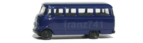 PKWs-Rietze-16038-Mercedes-L-319-Bus-blau