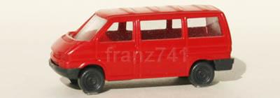 PKWs-Wiking-916-5x-xx-VW-Kombi-T4-rot