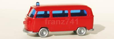 PKWs-Wiking-934-6x-xx-VW-Transporter-Feuerwehr-Wagen-rot