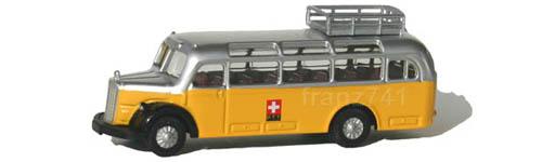 Lemke-Minis-LC3103-MB-O3500-PTT-Bus-Schweizer-Kreuz-Logo-Gepaeckkorb-Dacheckfenster