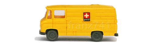 Wiking-9031-MB-L-406-PTT-Kasten-Lieferwagen-Schweizer-Kreuz-Logo