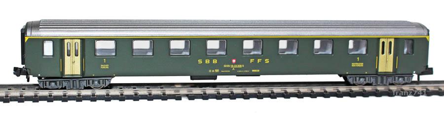 Arnold-3324-EW-I-Personenwagen-SBB-1Klasse