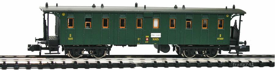 Brawa-65026-Personenwagen-SBB-3Klasse