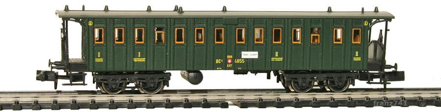 Brawa-65027-Personenwagen-SBB-4855-2-3Klasse