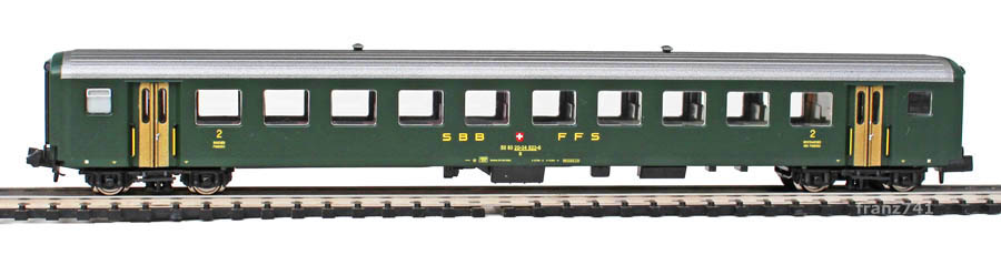 Brawa-65201-EW-II-Personenwagen-SBB-2Klasse