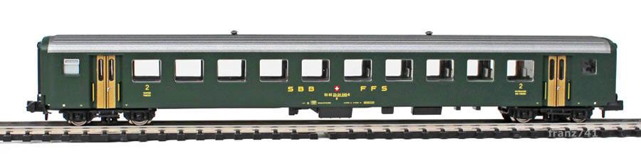 Brawa-65202-EW-II-Personenwagen-SBB-2Klasse