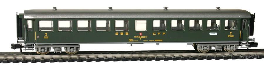 Fleischmann-8139-Personenwagen-SBB_2Klasse