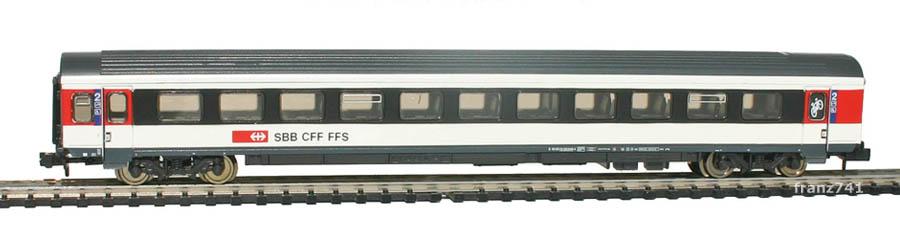 Fleischmann-8903-02-EW-IV-ICN-Personenwagen-SBB-2Klasse