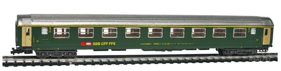 Kato-Hobbytrain-20001-Personenwagen-SBB_1Klasse