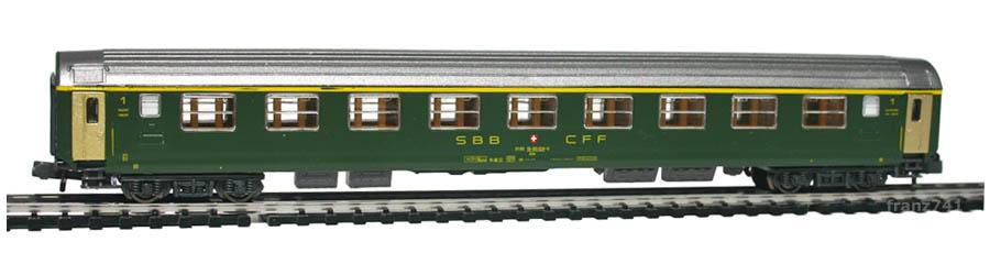 Kato-Hobbytrain-20011-Personenwagen-SBB_1Klasse