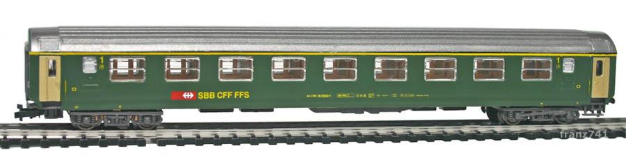Kato-Hobbytrain-21000-1-Personenwagen-SBB_1Klasse