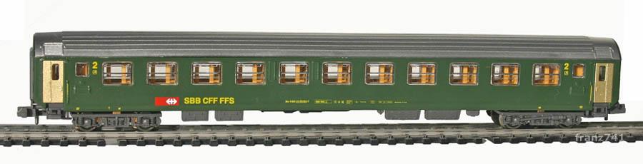 Kato-Hobbytrain-21000-4-Personenwagen-SBB_2Klasse