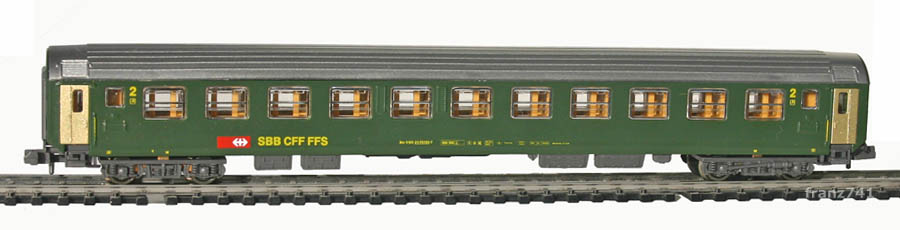 Kato-Hobbytrain-21000-5-Personenwagen-SBB_2Klasse