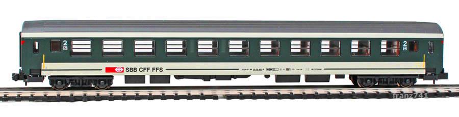 Pers-Wagen/Kato-Hobbytrain-23103-UIC-Personenwagen-SBB_2Klasse